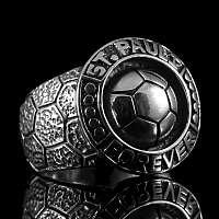 Fußball Ring St. Pauli aus 925er Silber