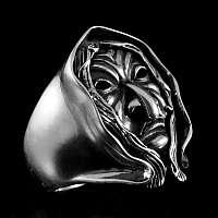 Massiver Hexenring aus 935er Silber