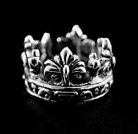 Kronenring aus Silber mit Lilie