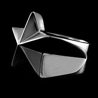 Nautical Star Rockabilly Schmuck Stern Ring aus 935er Silber