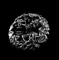 Totenkopf Niete 3 Skulls aus Sterlingsilber