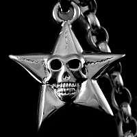 Ketten Anhänger Stern mit Totenkopf