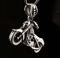 Motorrad Schmuck Anhänger mit Totenkopf