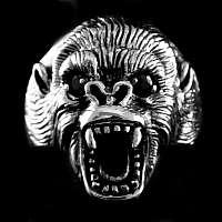 Silberschmuck Gorilla Ring aus 925er Sterlingsilber