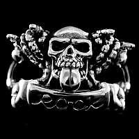 Skull Ring ROCK aus Ag 925 Sterling Silber
