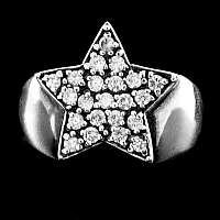 Rockabilly Schmuck Ring mit Zirkonia
