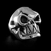 Tiki Skull Ring aus Silber