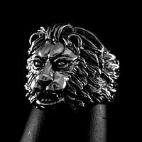 Ring mit Löwenkopf aus Ag 925 Sterlingsilber