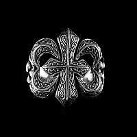 Fleur de Lys Kreuz Ring mit tollen Verzierungen