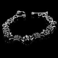 Armband aus Silber mit Lilie und Krone