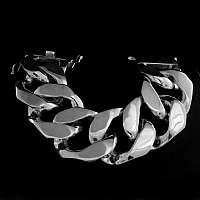 Schweres massives Panzerarmband aus Silber