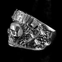 Ring Totenkopf St. Pauli aus Silber