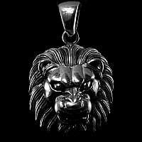 Löwenkopf Anhänger Sterling Silber