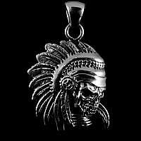 Totenkopf Indianer Anhänger