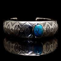 Armreif mit Türkis aus Silber