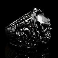 Biker Schmuck Ring mit Totenkopf