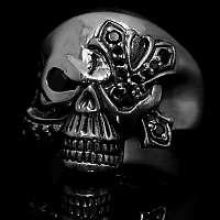 Biker Schmuck Skullringe mit Templerkreuz