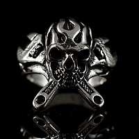 Biker Schmuck Ring mit Schraubensclüssel