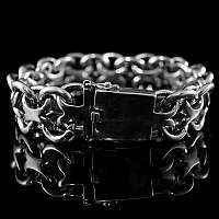 Bikerschmuck Armband mit Gliedern aus Silber