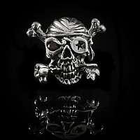 Bikerschmuck Totenkopf Schraubniete im Piraten Style