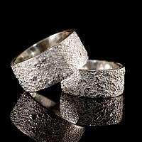 Eheringe, Trauringe, Hochzeitsringe gesintert aus 935er Silber