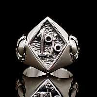 Biker Ring Einprozenter aus Silber