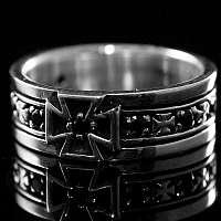 Einreihiger Templerkreuz Ring Templerschmuck