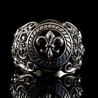 Gothic Ring mit Lilie aus 925er Sterlingsilber
