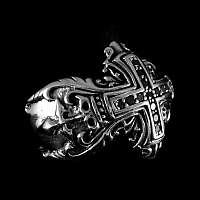 Gothic Kreuz Ring aus 925er Sterlingsilber