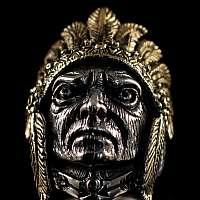 Indianer Ring mit Kopfschmuck