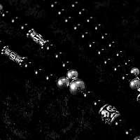 Bikerschmuck, Kugelkette aus Onyx mit Totenkopf
