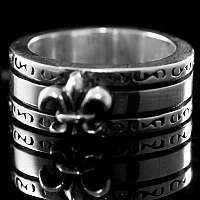 Lilie Ring Mittelalterschmuck