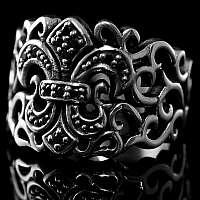Lilien Ring Mittelalterschmuck