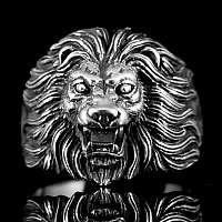 Löwen Ring aus Sterling Silber