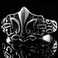 Mittelalter Schmuck Ring mit Fleur de Lis