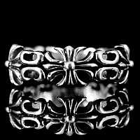 Schmaler Mittelalter Ring Sterling Silber