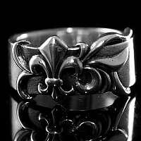Mittelalterschmuck Ring Fleur de Lis