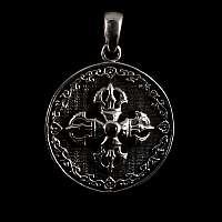 Mittelalter Schmuck Anhänger mit Krone in Kreuzform mit Zirkonia