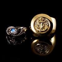 Eheringe Gold und Mondstein