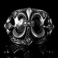 Ring aus Silber mit Fleur de Lys