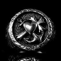 Glaube Liebe Hoffnung Ring massiv 77 Gramm