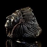 Indianer Ring aus Sterlingsilber