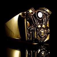 Ring V2 Motor aus Gold