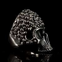 Totenkopf Ring aus Silber von Customringz