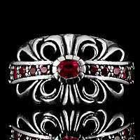Massiver Ring mit Zirkonia Steinen