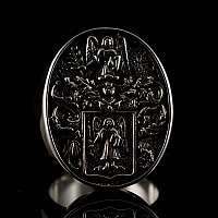 Ring mit Familien Wappen nach Kundenwusch gefertigt