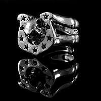 Rockabilly Schmuck Hufeisen Ring