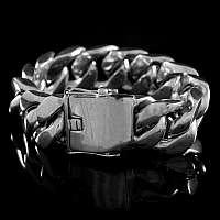 Panzerarmband Silber mit Kastenschloss
