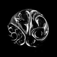 Silberschmuck Schraubniete mit Verzierungen