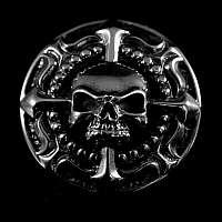 Skull Niete aus Sterling Silber